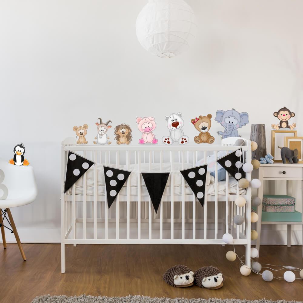 Tierischer Wandtattoo Fur Buntes Babyzimmer Inspio
